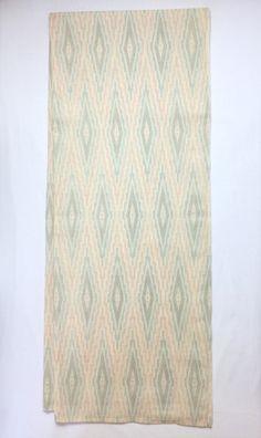 Turtleback Light Red ,Blue,Beige Pattern on Summer Wool