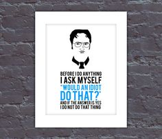The Office Poster Dwight Quote Poster The Office TV by QuoteNote