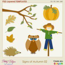 Signs of Autumn 02 Layered Templates #CUdigitals cudigitals.com cu commercial digital scrap #digiscrap scrapbook graphics
