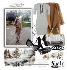 """Shein cardigan"" by irinavsl ❤ liked on Polyvore featuring Topshop, Chanel, Michael Kors, Furla and Karen Walker"