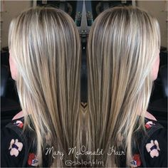 Stunning dimensional blonde created by our stylist Mary! Mary used a combination of Balayage and foiling techniques to refresh this beautiful blonde, then finished with a long layered cut.