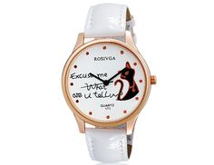Women Stylish Cat Printed Dial Analog Watch with Faux Leather Strap Wrist Watch