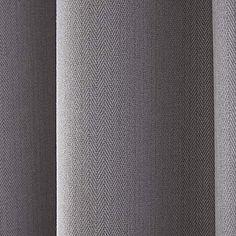 Hayden Grey Lined Eyelet Curtains | Dunelm