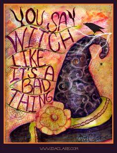#witch, # Halloween #raven #idaclare Ida Clare I'm Afraid Halloween is Almost Here @ www.idaclare.com
