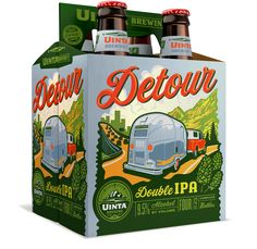 Uinta Brewing Co. Detour Double IPA 12oz. 6-pack - designed by Emrich Office