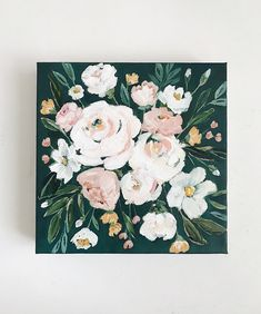 Acrylic Painting On Paper, Painting & Drawing, Painting Inspiration, Art Inspo, Art Sketches, Art Drawings, Mini Canvas Art, Floral Artwork, Art Original