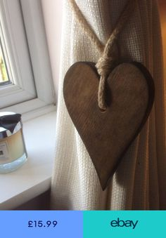 Pair Of Handmade Dark Wooden Long Heart Curtain Tie Backs With Jute Rope Tie,What period should curtains be? That is where opinions differ since there is no proper length for the curtains. At least not generally.