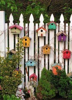 Colorful-birdhouses