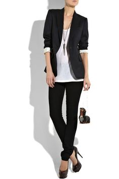Always a good look and it's easy to pull off. I would swap the heels for boots to wear this at the office.