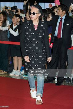 Dragon of South Korean boy band Bigbang attends 'Commitment' VIP screening at Mega Box on October 29, 2013 in Seoul, South Korea. The film will open on November 06, in South Korea.