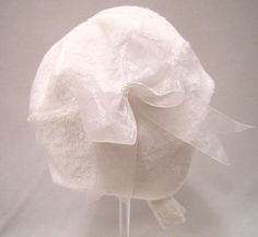 Snow Princess White Furry Baby Hat size 12 to by ClassicBabyWhites