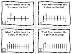 IDENTIFYING FRACTIONS ON A NUMBER LINE - 32 TASK CARDS FOR MATH CENTERS - TeachersPayTeachers.com