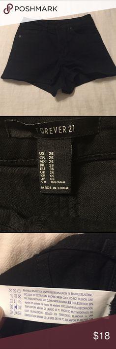 Black denim shorts Black denim shorts from Foverer 21. US 26. Brand new condition. Forever 21 Shorts