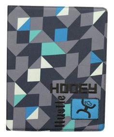 Gray & Blue Geometric Tablet Cover for iPad