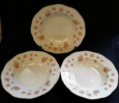 China Bowl, Bone China, Ditsy, Free Delivery, Pink Flowers, Bowls, Decorative Plates, Antiques, Tableware