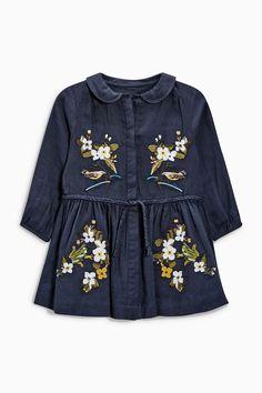 Navy Embroidered Dress   Next USA