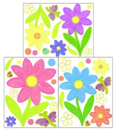 Flower Decals for Girls Room Walls by CreateAMural on Etsy, $19.99