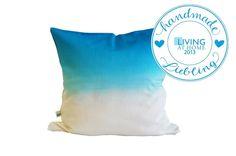 Kissenbezüge - Kissenhülle Farbverlauf blau - dipdye - ein Designerstück von m_hoch3 bei DaWanda