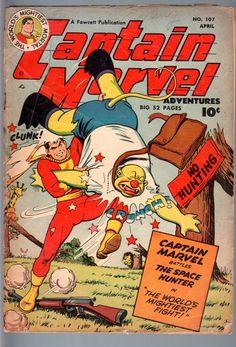 Captain Marvel Adventures 107 1950 Fawcett Shazam Golden Age Comic VG Minus VG   eBay