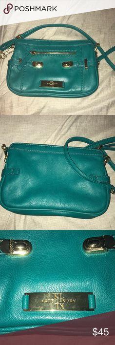 Kate Landry turquoise purse Kate Landry turquoise purse - very gently used. Kate Landry Bags Mini Bags