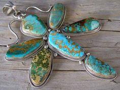 Cecil Atencio Royston Turquoise Penda... at Chacodog.com