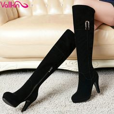 Aliexpress.com : Buy VALLKIN Zipper Classic Black PU leather 2016 Square High Heel Over The Knee Boots Women Shoe Motorcycle Boots Boot size 34 40 from Reliable shoe velvet suppliers on VALLLKIN WOMEN SHOE Store