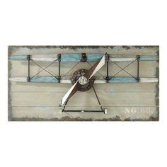 Carlingue - Déco murale grise avion 60 x 120 cm