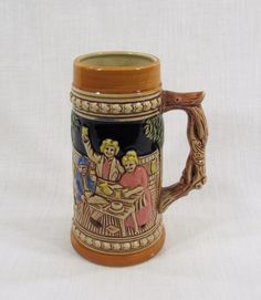 Glazed Ceramic Collectible Souvenir German Beer Stein Japan by VintageEtcEtc on Etsy