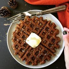 Spiced Apple & Molasses Waffles (Gluten & Dairy Free)