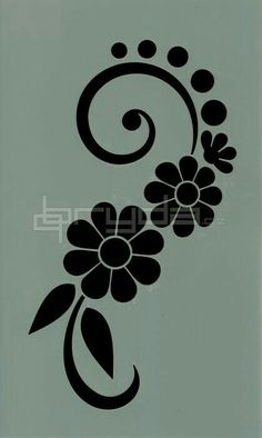 Discover thousands of images about ideas for painted rocks flowers Stencil Patterns, Stencil Art, Stencil Designs, Embroidery Patterns, Hand Embroidery, Flower Stencils, Stencil Fabric, Stencil Templates, Border Design