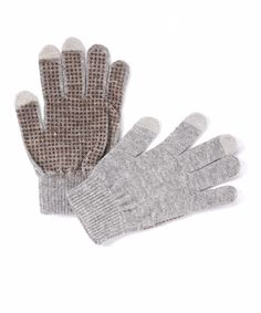 freehands Gray Texting Gloves//