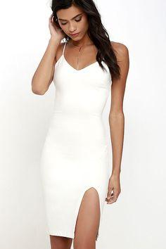 Beautifully Bold Ivory Bodycon Dress at Lulus.com!