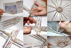 Diy Projects: DIY Wicker Basket Using Newspaper