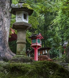 japanese wooden lantern nara - Google Search