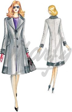 Our Patterns :: Marfy Collection 2010/2011 :: Autumn - Winter :: Sewing pattern 2250 -