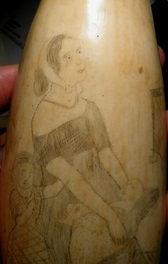 images of scrimshaw | Antique ScrimshawSperm Whale Tooth