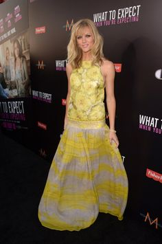 Brooklyn Decker lit up the red carpet in a sunny yellow Giambattista Valli gown with a halter neckline and drop waist. - www.fabsugar.com