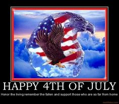 happy 4th to our troops