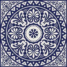 PRINTABLE Mandala style wall art, Navy blue Set of 2 medallion motif prints, Digital tiles Square geometric design, DIY posters - Blue Navy Print Navy Geometric Art Blue Wall Art Geometric design Navy Wall Art Square Print N - Mandala Bleu, Mandala Art, Design Set, Diy Design, Blue Design, Navy Walls, Home Decor Sets, Geometric Wall Art, Geometric Mandala