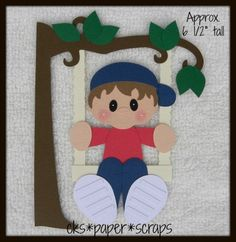 Tree Swing Boy Kid Scrapbook Paper Piecing
