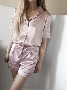 37d2243e39 Silk pajama set shorts Silk pajamas pink Silk pyjamas Silk set Silk pajama  set Silk short pajama set Pajama for women Valentines day gift