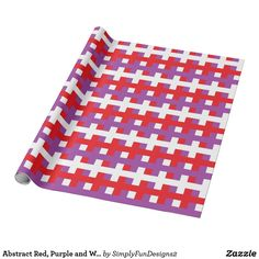 Abstract Red, Purple and White Wrapping Paper