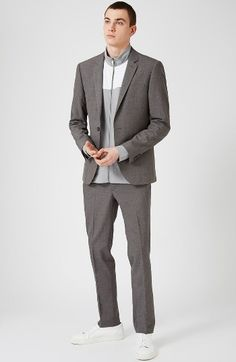 A modern take on a traditional, skinny-fit suit.
