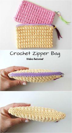 Crochet Little Cute zipper Bag Videotutorial of a crochet wallet starting from a zipper. The videoturorial is in Spanish Crochet Little Cute zipper Bag – Pretty Ideas crochet (Visited 4 times, 1 visits today) Crochet Wallet, Crochet Coin Purse, Crochet Purse Patterns, Crochet Pouch, Crochet Purses, Crochet Gifts, Knitting Patterns, Crochet Bags, Crochet Bag Tutorials