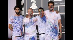 La Vida Bohème. You show up to the Grammys in White and Splatter paint... Win!