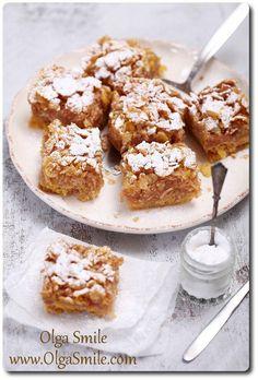 Ciasto szarlotka Olgi Smile Gluten Free Recipes, Vegan Recipes, Cooking Recipes, No Bake Desserts, Dessert Recipes, Apple Pie Cake, Apple Cakes, Polish Recipes, Polish Food