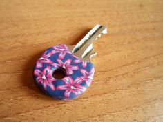 Clay covered key, Use it to identify a current key, or cover an old key to make a pendant.