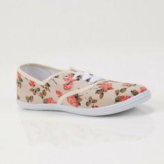 Rose Canvas Shoes Bloggerbrittney.Blogspot.com