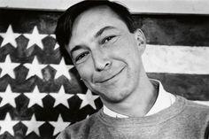"Alexander Liberman, ""Jasper Johns"" 1950's. Jasper Johns Paintings, Photographs, Gay, Faces, African, Icons, Sculpture, Fine Art, Portrait"