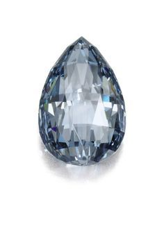 A 10.48 ct. exceptionally rare fancy blue #diamond. The drop-shape briolette stone has been graded flawless. http://jangmijewelry.com/